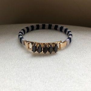 J. Crew bracelet blue gray stripes